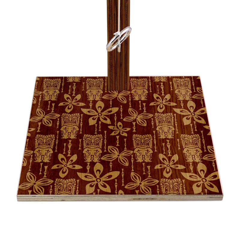 Stained Tiki Pattern Tabletop Ring Toss Game