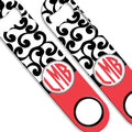 ADD YOUR NAME SPEED Bottle Opener – Monogram Swirls - Coral