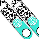 ADD YOUR NAME SPEED Bottle Opener – Monogram Swirls - Teal