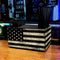 Black American Flag Wooden Bar Caddy