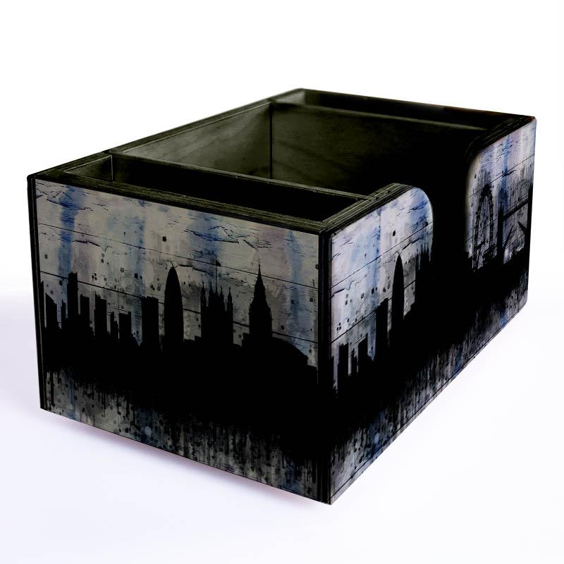 City Scene Wooden Bar Caddy
