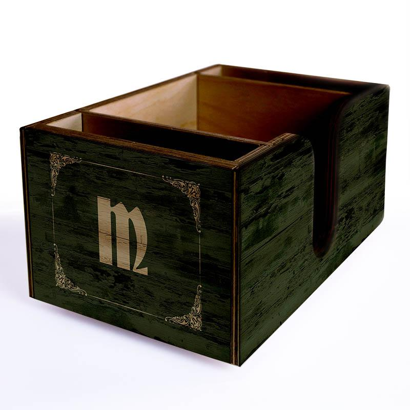 Wooden Bar Caddy - Irish Pub - Customizable