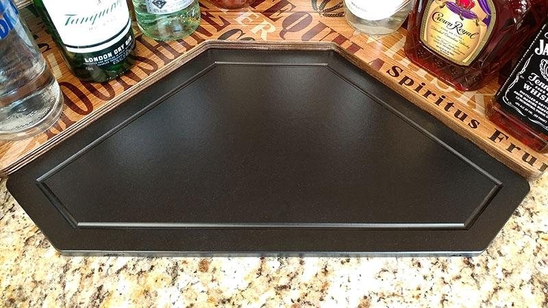 Counter Caddies™ - Stained Finish - CORNER Shelf w/ K-CUP Holes