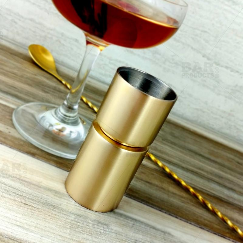 Jigger Cylinder - Gold Plated - 30/45 Milliliters