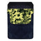 Leather Bottle Opener Pocket Protector w/ Designer Flap - Green Camo - SMALL