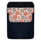 Leather Bottle Opener Pocket Protector w/ Designer Flap - Orange Floral - LARGE