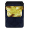 Leather Bottle Opener Pocket Protector w/ Designer Flap - Yellow Grunge - SMALL
