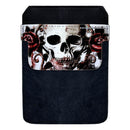 DekoPokit™ Leather Bottle Opener Pocket Protector w/ Designer Flap - Grungy Skull and Roses - LARGE