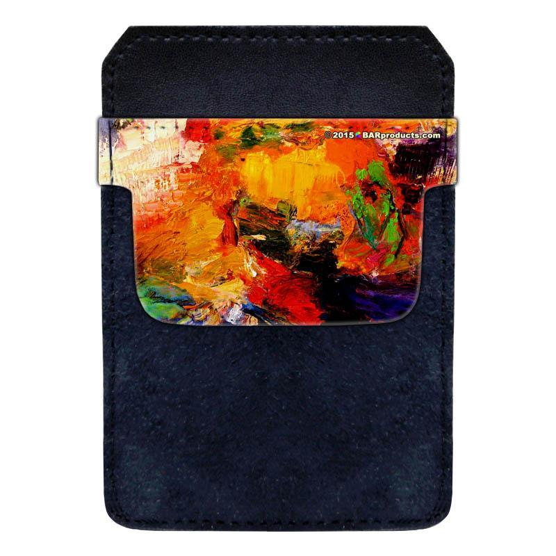 DekoPokit™ Leather Bottle Opener Pocket Protector w/ Designer Flap - Painter's Pallet