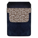 Leather Bottle Opener Pocket Protector w/ Designer Flap - Brown Paisley - SMALL