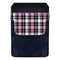 DekoPokit™ Leather Bottle Opener Pocket Protector w/ Designer Flap - Pink and Black Plaid - SMALL