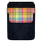 DekoPokit™ Leather Bottle Opener Pocket Protector w/ Designer Flap - Colorful Plaid - LARGE
