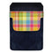DekoPokit™ Leather Bottle Opener Pocket Protector w/ Designer Flap - Colorful Plaid - SMALL
