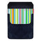 DekoPokit™ Leather Bottle Opener Pocket Protector w/ Designer Flap - Rainbow Stripes - SMALL