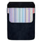 DekoPokit™ Leather Bottle Opener Pocket Protector w/ Designer Flap - Pastel Stripes - LARGE