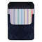 DekoPokit™ Leather Bottle Opener Pocket Protector w/ Designer Flap - Pastel Stripes - SMALL
