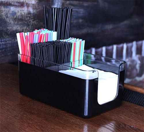Deluxe 2 Piece Napkin Holders / Bar Caddy