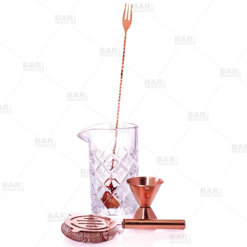 BarConic® Copper & Diamond Pattern 22 oz  Mixing Set