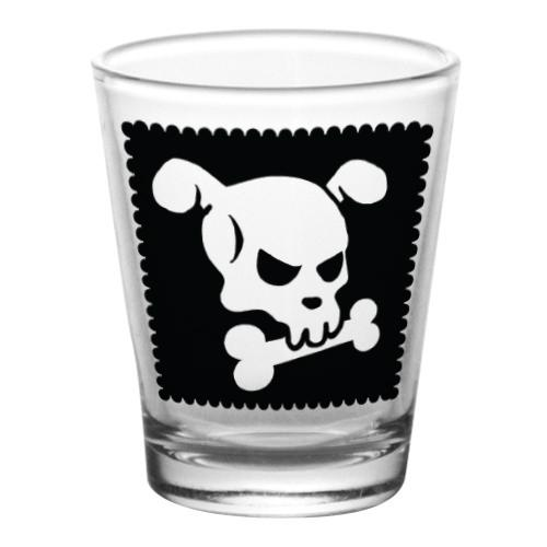 1.75 oz Shot Glass- Cutsey Skulls - Doggy