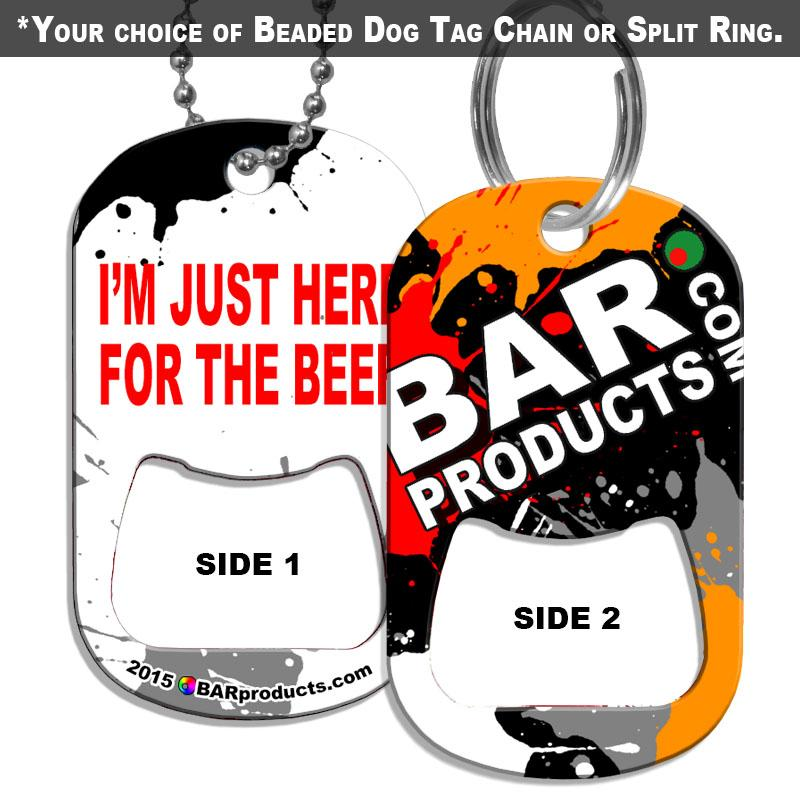Dog Tag Bottle Opener - BPC Promo - For The Beer