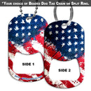 Dog Tag Bottle Opener - Grunge US. Flag