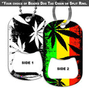 Dog Tag Bottle Opener - Rasta - 800