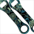 Dog Bone Bottle Opener - Blue Henna