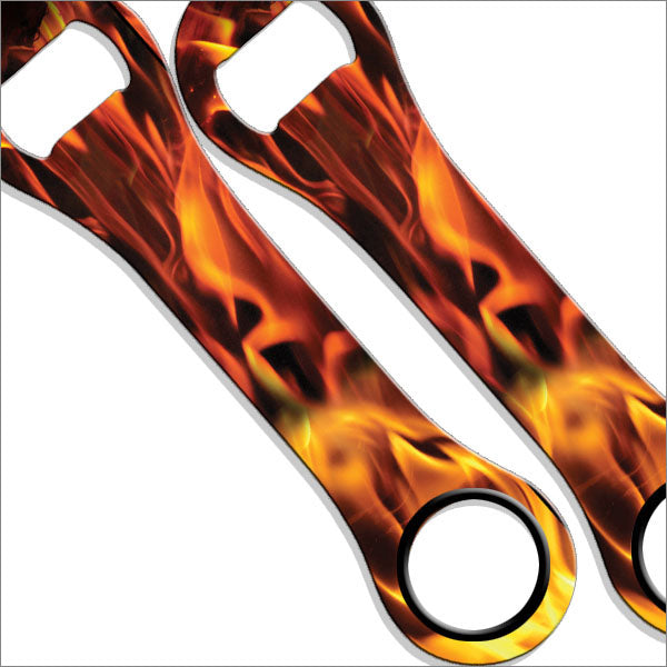Dog Bone Bottle Opener - Flames