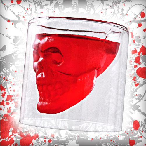 Crystal Skull Shot Glass - Doomed - 2.5 ounce