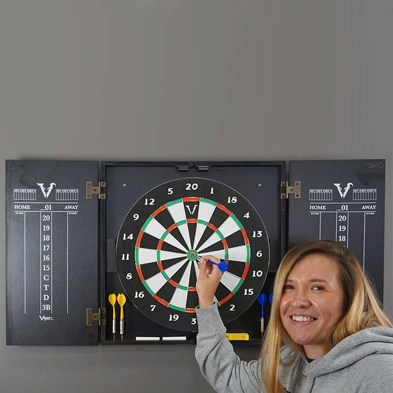 Customizable Wine Bar Dart Board Cabinet