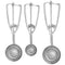 Dishers - Ambidextrous Stainless Steel Scoops