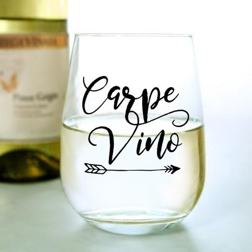 Carpe Vino - Stemless Wine Glass (17oz)