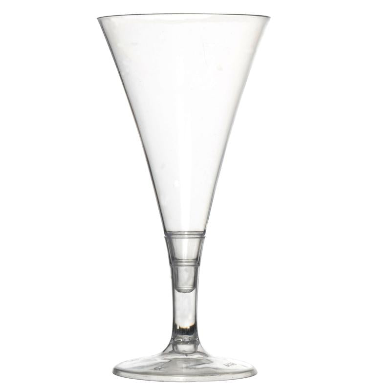 Miniature Plastic Champagne Glasses - 2 oz - 2 Piece