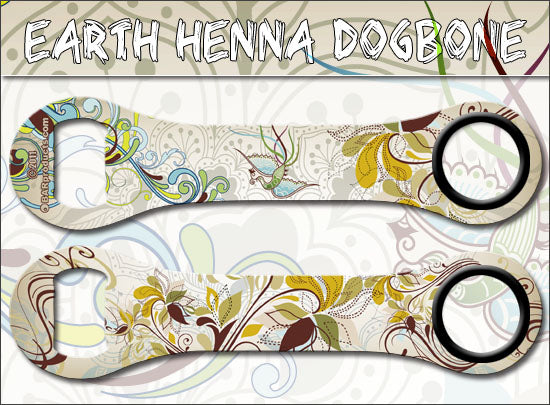 Dog Bone Bottle Opener - Earthy Henna