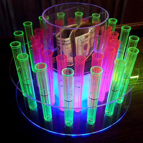Test Tube Shooter Tray with LED Light and Remote – 32 Hole