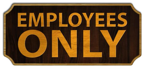 Employees Only Wood Plaque Kolorcoat™ Sign
