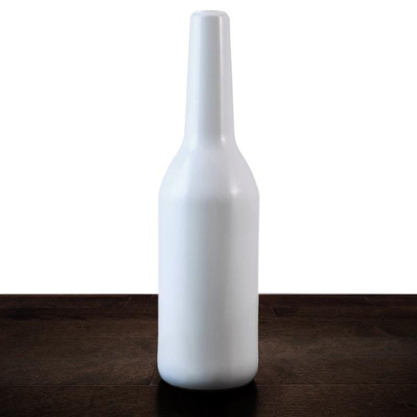 Blank 750ml White Bottle (Textured) - Irregular