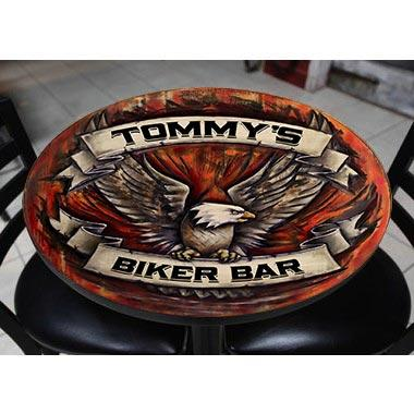 CUSTOMIZABLE Wooden Table Top - Eagle - Two Sizes Available
