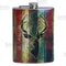 Stainless Steel Hip Flask - Buck Design - 12 ounce