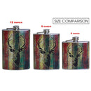 Stainless Steel Hip Flask - Buck Design - size comparison
