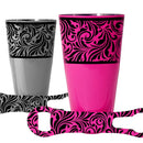 Printed Cocktail Shaker and V-Rod® Bar Set - Floral Swirl - Color Options