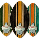 Football Wall-Mounted Wooden Plaque Bottle Openers - Several Team Color Options