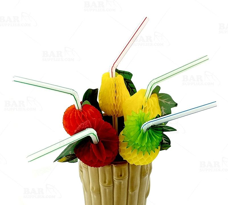 BarConic® Fruit Straws - Paper Accordion - 100 Pack