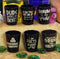 Printed Black Shot Glasses - Funny Drinking Themes - 1.5 ounce