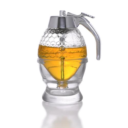 Handmade Glass Honey Dispenser (6.6 oz. / 200 ml.)