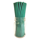 "BarConic® ""Eco-Friendly"" Paper Straws - 7 3/4"" Solid Green - 100 pack"