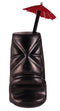 Ceramic Gun Metal Black Tiki Mug (12 ounce)