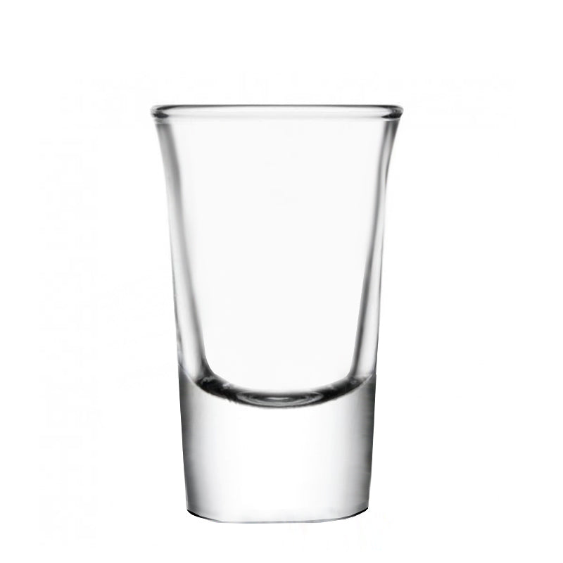 BarConic Flared Top Shot Glass w/ Thick Base - 25 ml