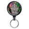 Mirrored Chrome Retractable Reel - Hamsa