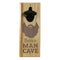 Engraved Man Cave Wooden Wall Bottle Opener w/ Magnetic Cap Catcher - Beard